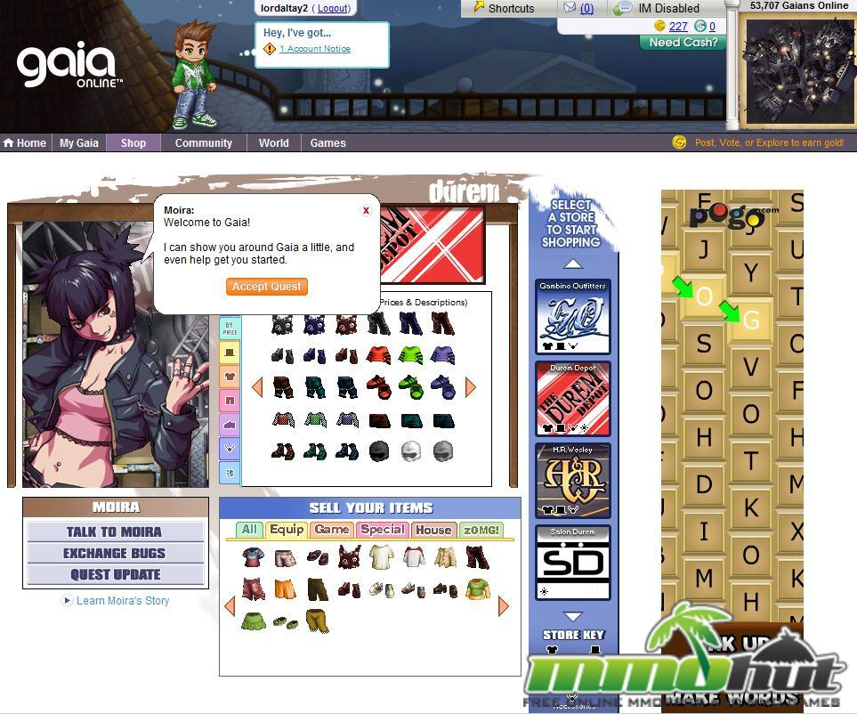 Gaia Online Game Review - MMO Hut