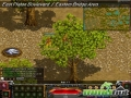 thumbs red stone behind tree