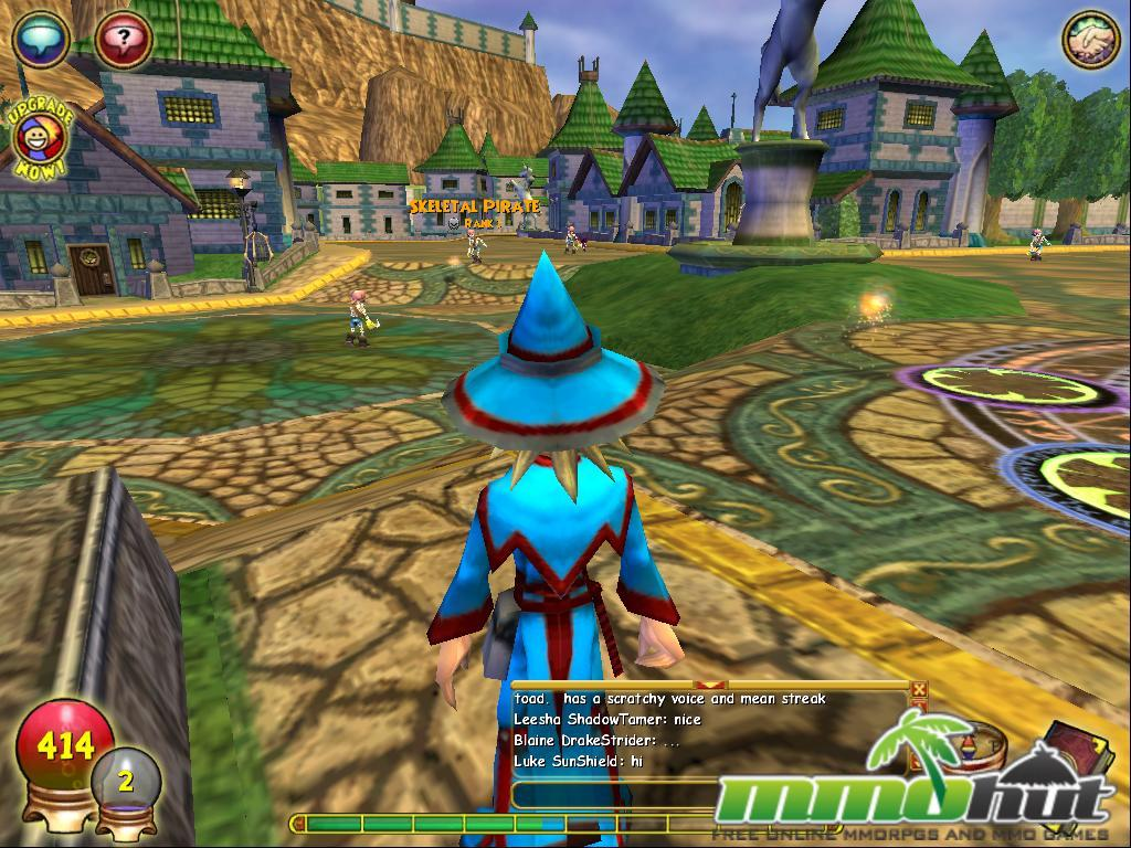 free online wizard game