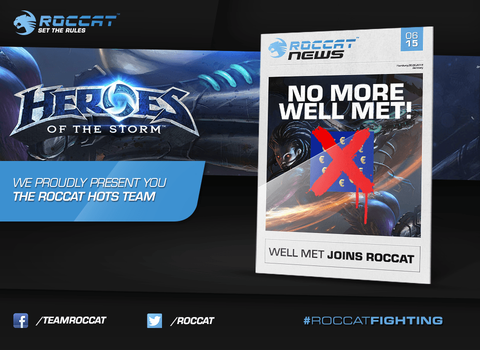 ROCCAT Signs Up Heroes of the Storm Team News Header