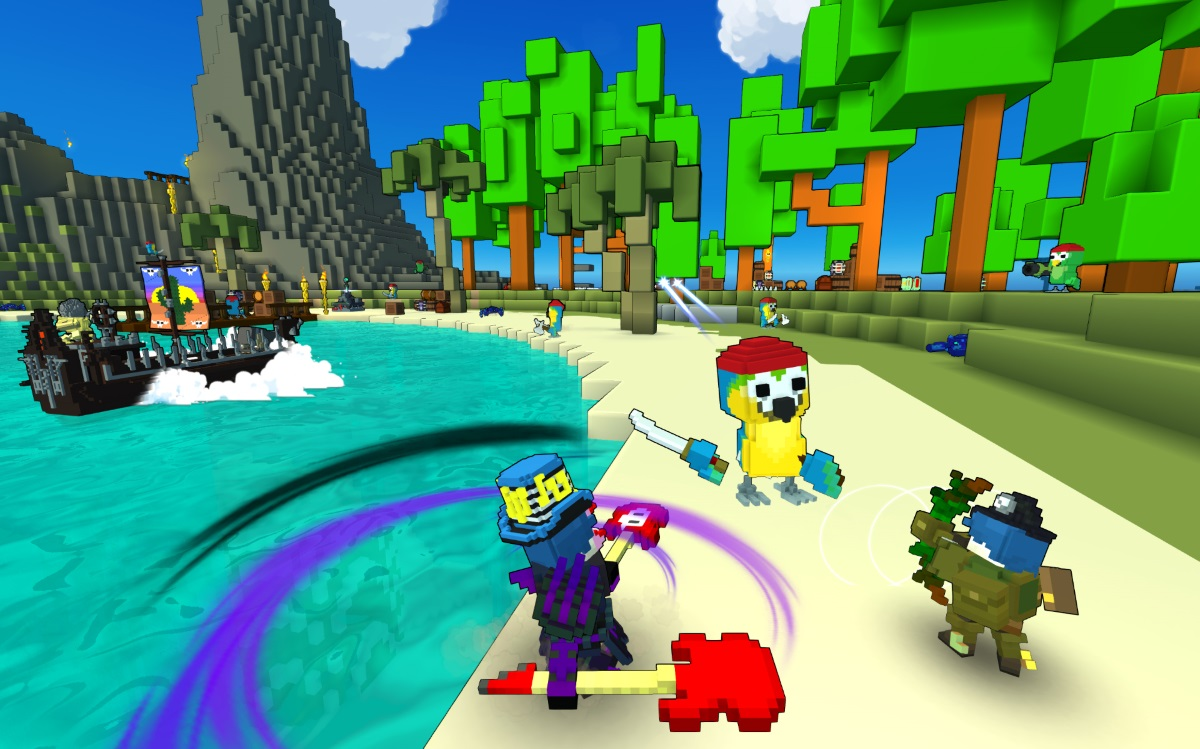 Trion World's Voxel Building Online RPG Trove Launches Today news header