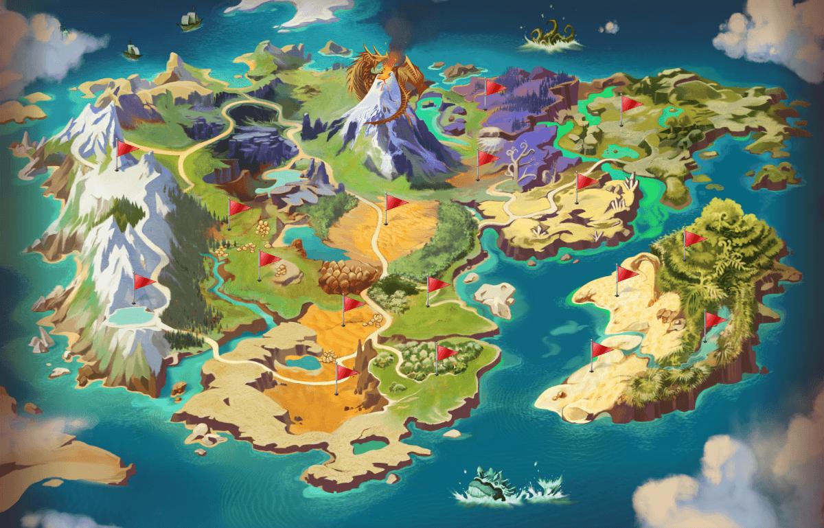 Dragomon Hunter Unveils its Complete World Map news header