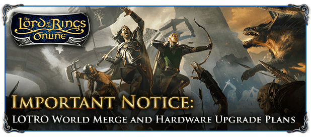 The Lord of the Rings Online Details World Transfer Process news header