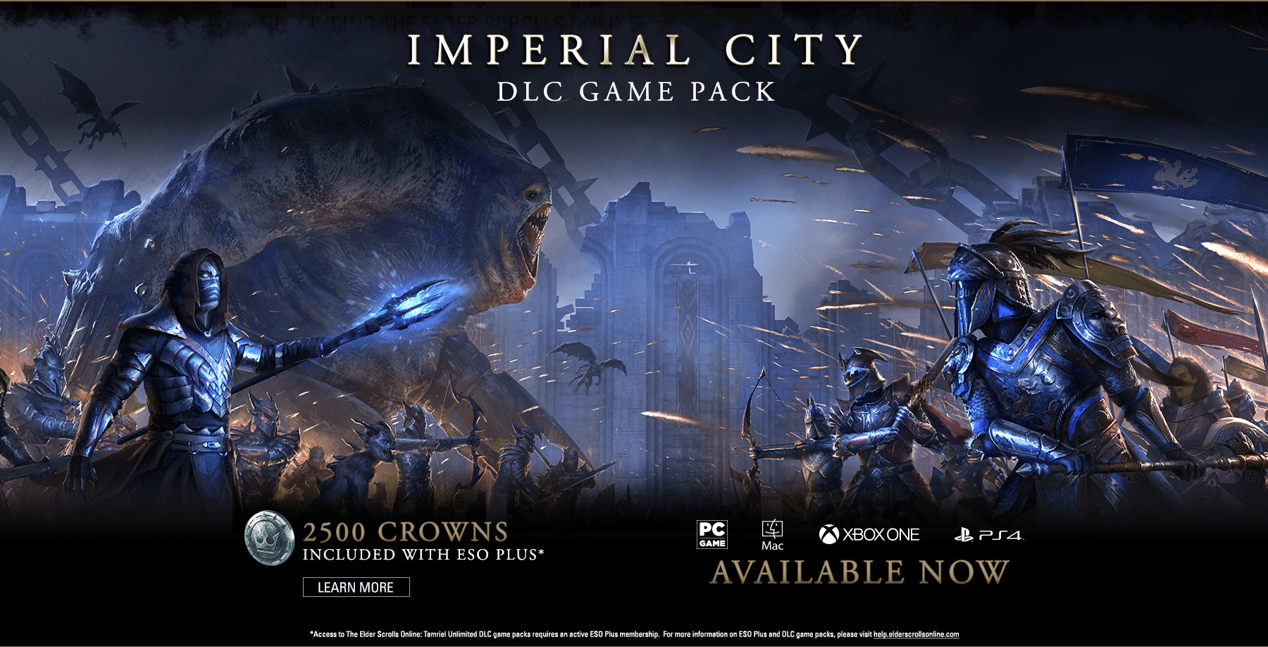 Imperial City Now Available for The Elder Scrolls Online Across All Platforms news header