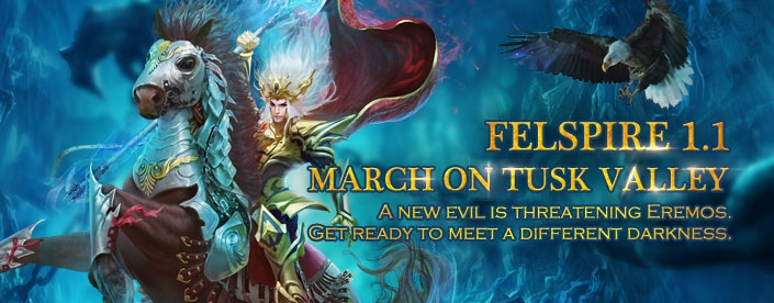 Felspire Beta 1.1 Introduces March on Tusk Valley news header