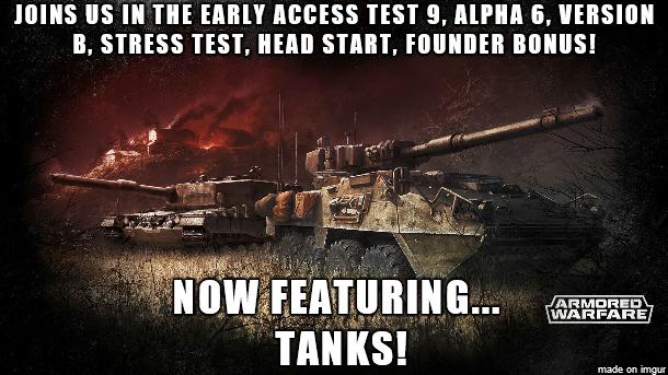 Armored Warfare Open Beta with Tanks