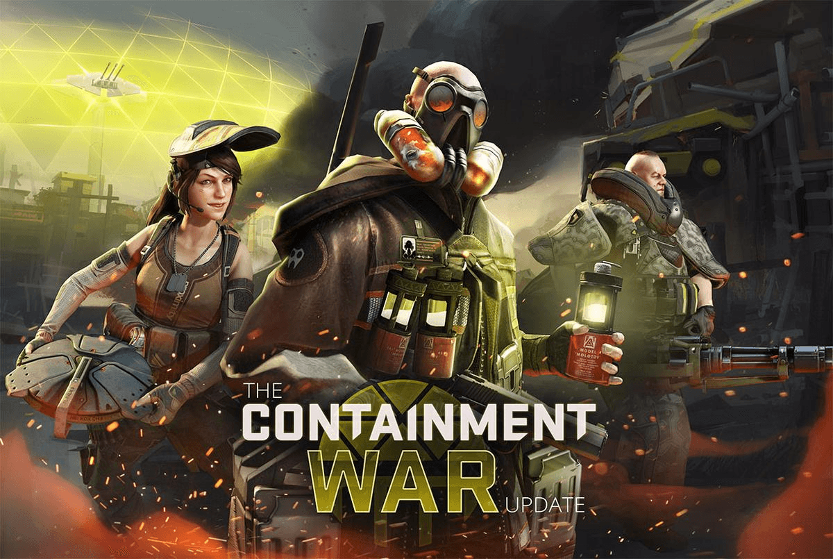 Dirty Bomb Containment War Update Drops In news header