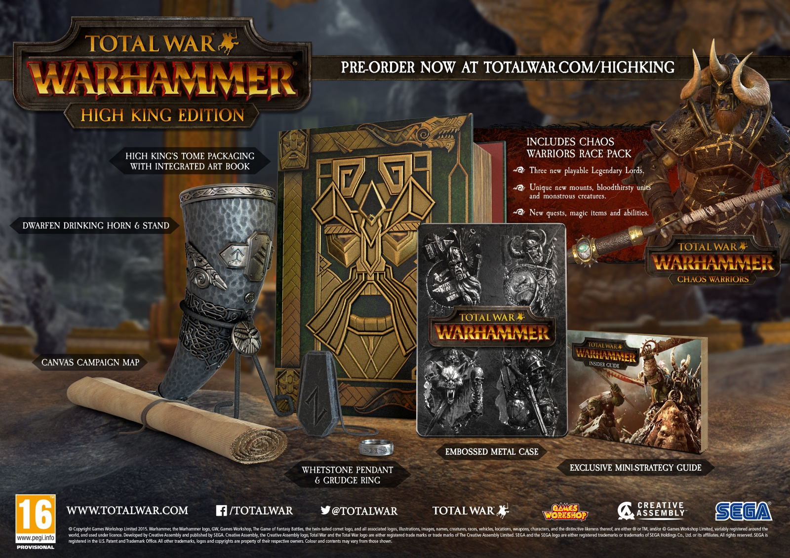 Total War: Warhammer Release Date, Pre-Order and High King Edition Revealed news header