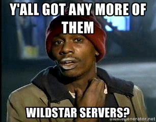 more wildstar servers