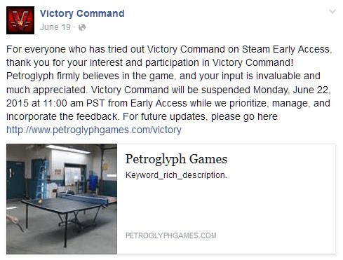 victory command shut down