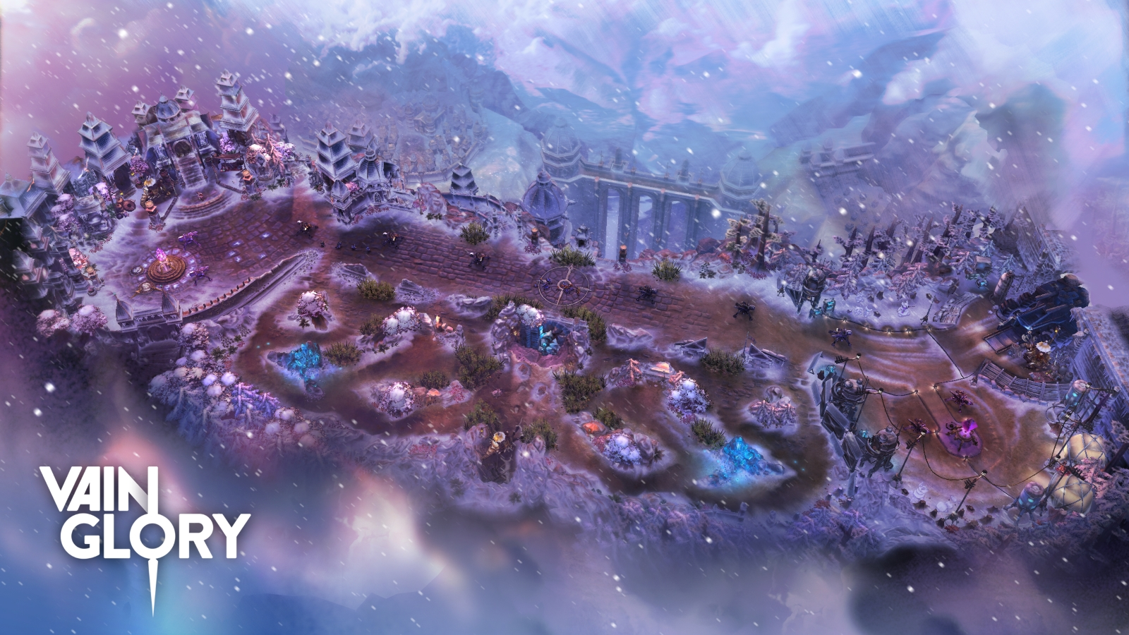 Vainglory Winter Map - Halcyon Fold Overview