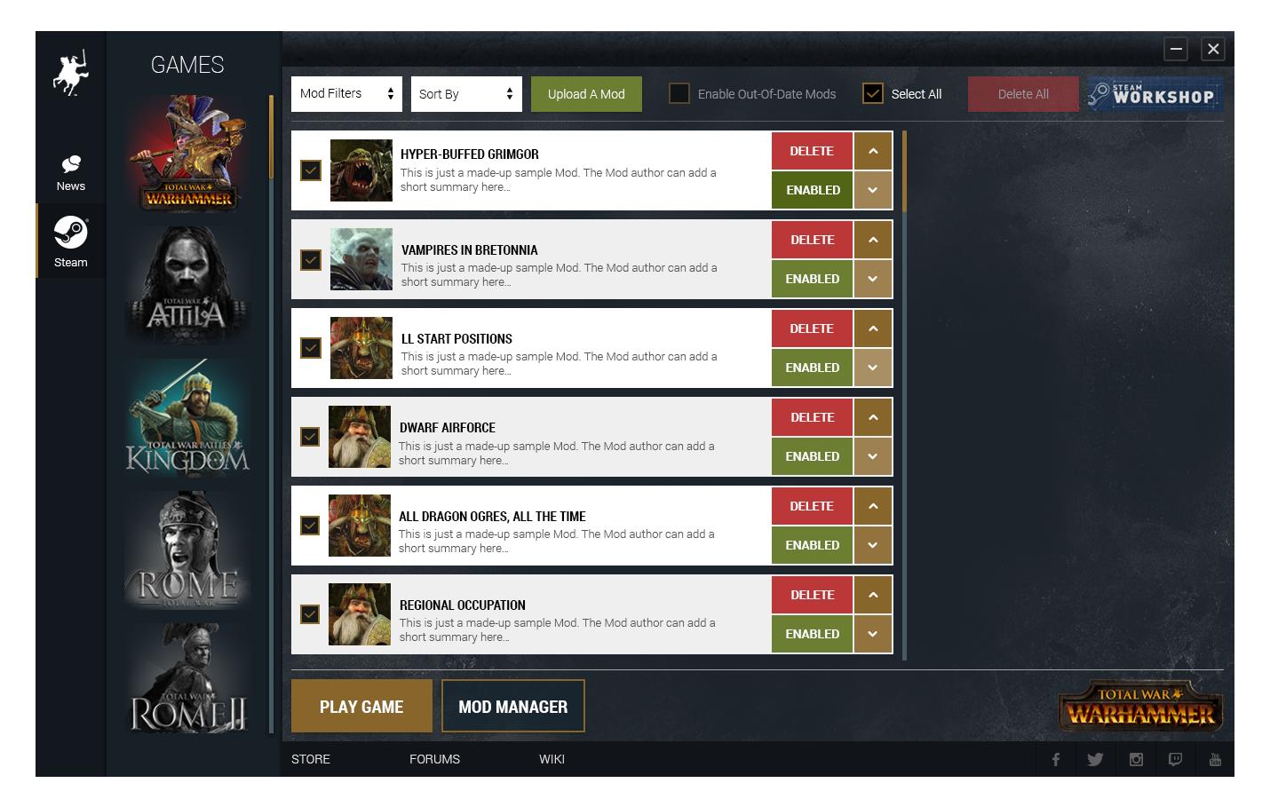 Total War: Warhammer Announces Mod Support & Steam Workshop
