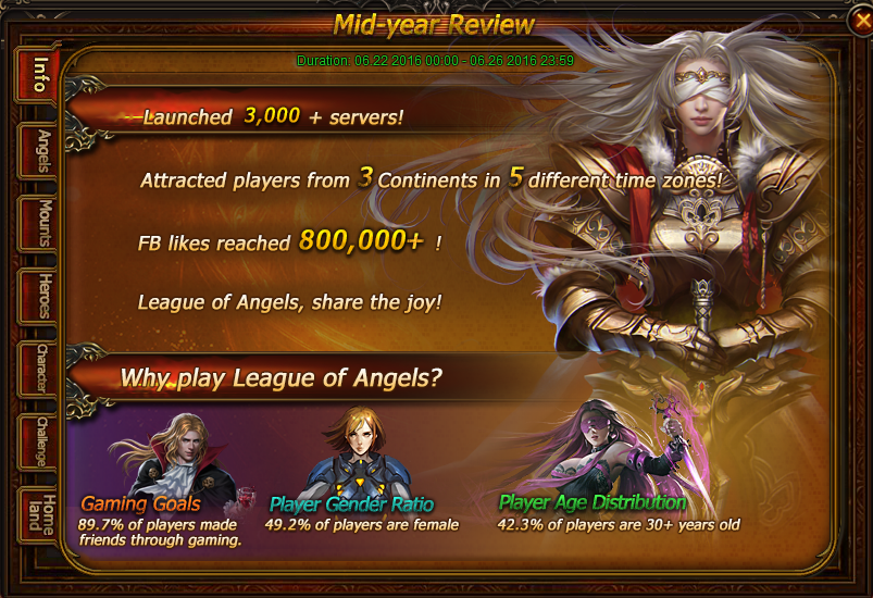 League of Angels Mid-Year Review Party Begins