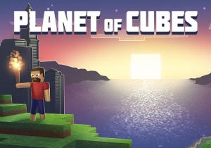 Planet of Cubes Game Banner