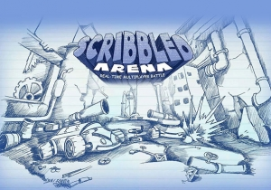 Scribbled Arena Game Profile Banner