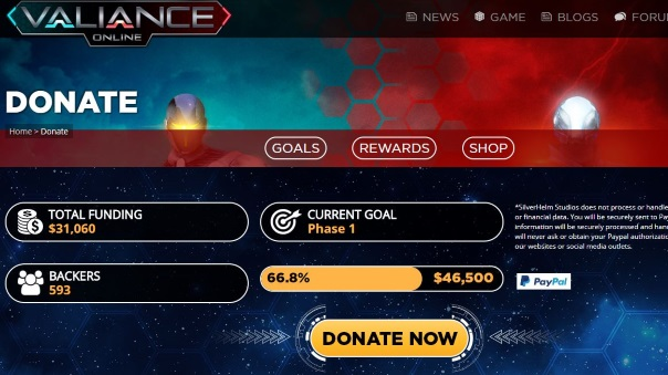 Donate to Valiance Online - Main Image